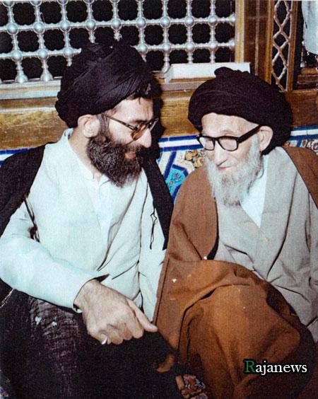 عکس آیت الله خامنه ای و پدرشان   عکس دیده نشده از رهبر انقلاب همراه با پدرشان  rahbar 20323